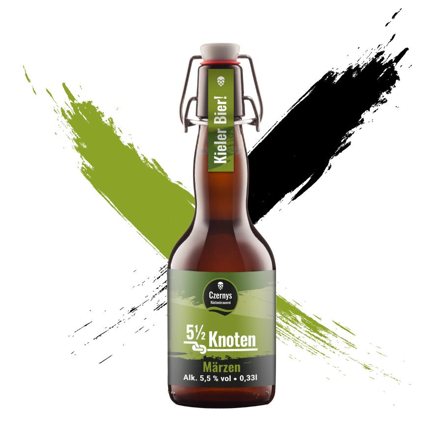 Czernys 5 1/2 Knoten Märzen Bierflasche
