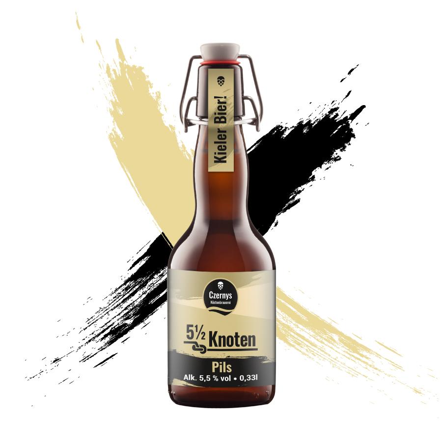 Czernys 5 1/2 Knoten Pils Bierflasche