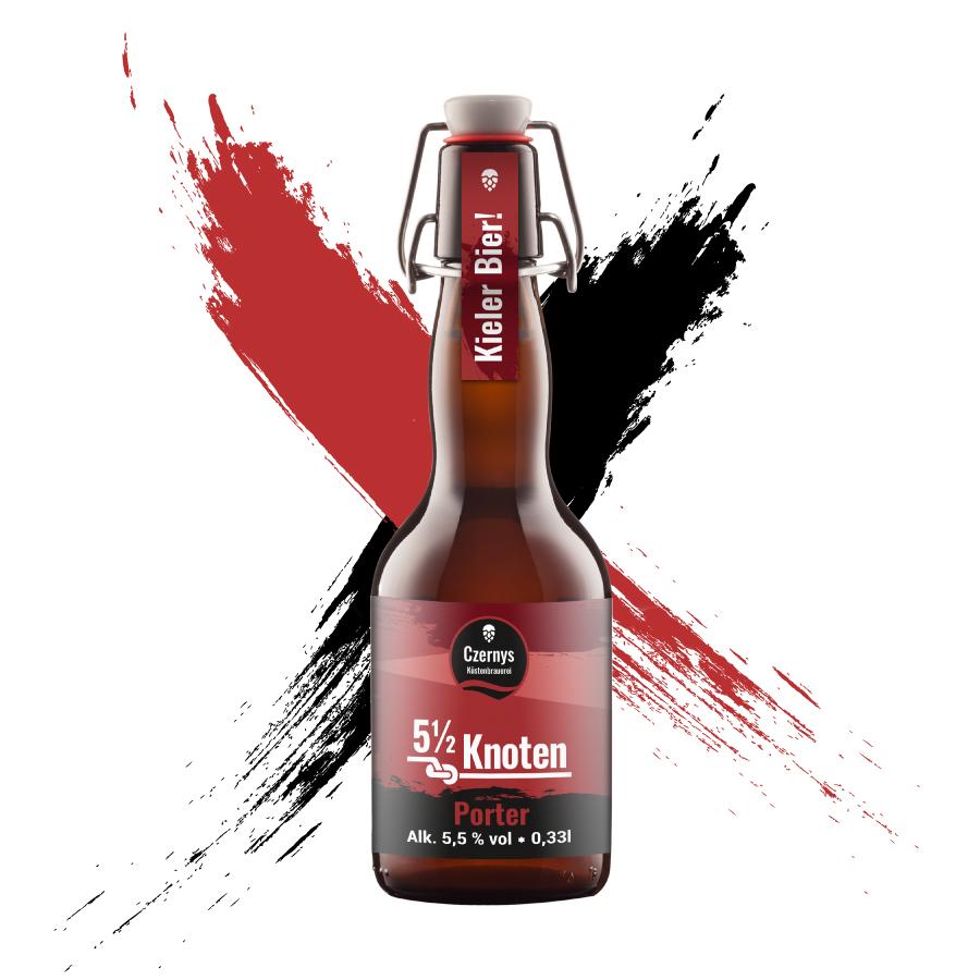 Czernys 5 1/2 Knoten Porter Bierflasche