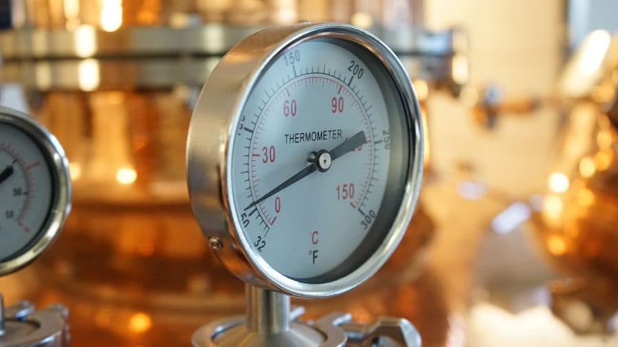 Potstill Brennanlage Thermometer
